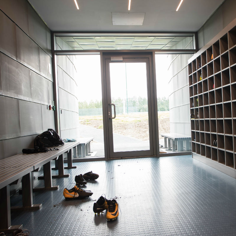 Everton Finch Farm boot room