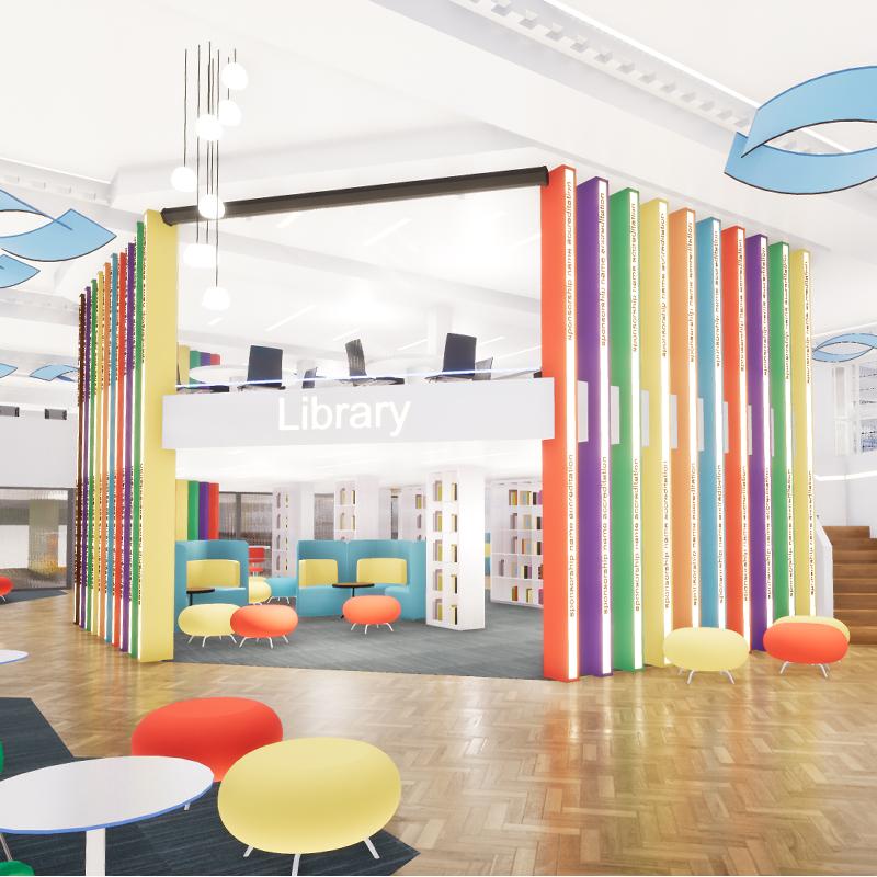 THE BLUECOAT SCHOOL LIBRARY & IT FACILITY