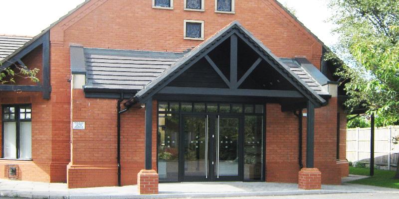 HOLY FAMILY CATHOLIC CHURCH NEW BUILD ENTRANCE